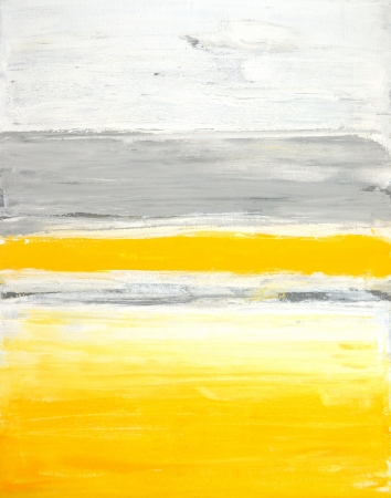 Foto de Grey and Yellow Abstract Art Painting - Imagen libre de derechos