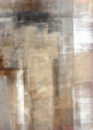 Photo for Brown and Beige Abstract Art Painting - Royalty Free Image