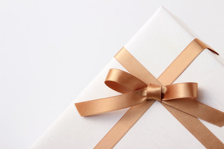 Photo for gift box on white background - Royalty Free Image