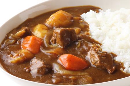 Foto de Japanese curry on white background - Imagen libre de derechos