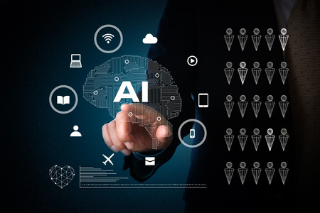 Photo for artificial intelligence concept - Royalty Free Image