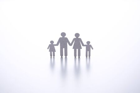 Photo for paper cut of family on white background - Royalty Free Image