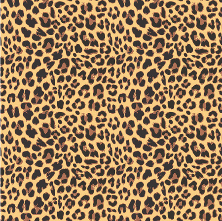 Ilustración de Leopard seamless pattern design, vector illustration background - Imagen libre de derechos