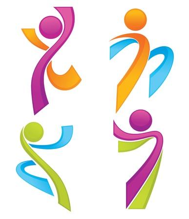 Foto de sportive people symbols look like ribbons collection - Imagen libre de derechos