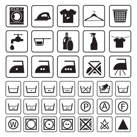Illustration pour laundry and washing icon - image libre de droit