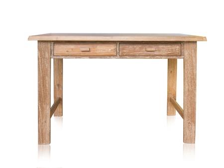 Photo pour vintage table isolated on white background - image libre de droit