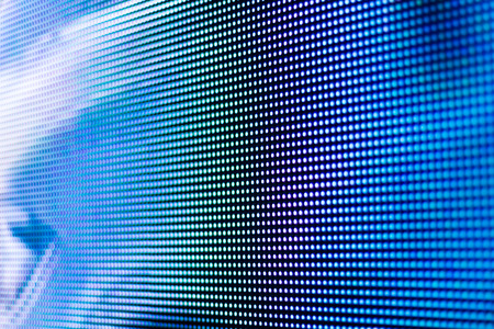 Foto de Bright blue led screen background - Imagen libre de derechos