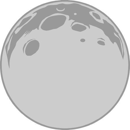 Illustration pour Full Moon vector format, grayscale clipart - image libre de droit