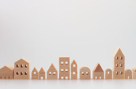 Photo for Miniature house on white background - Royalty Free Image