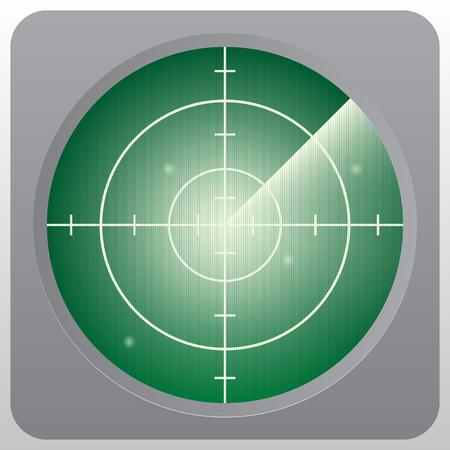 Foto für Green radar vector illustrator. - Lizenzfreies Bild