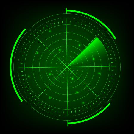 Foto für Radar vector illustrator. - Lizenzfreies Bild