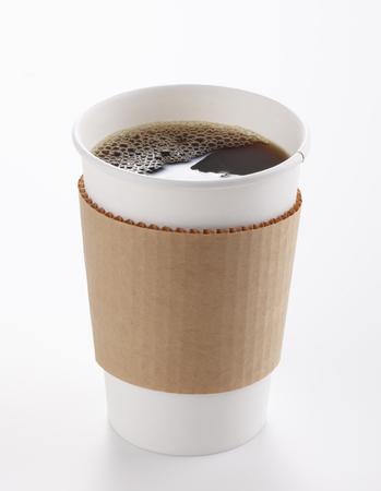 Photo pour Paper Coffee Cup Isolated - image libre de droit