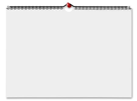 Photo pour Blank wall calendar - image libre de droit