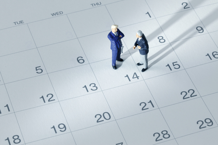 Photo for Businessman on the calendar - Royalty Free Image