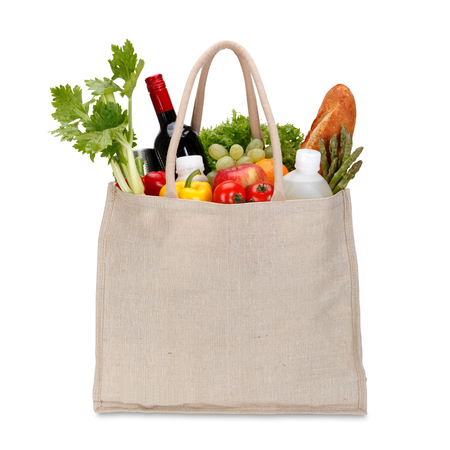 Photo pour Eco Friendly Shopping bag with clipping path - image libre de droit