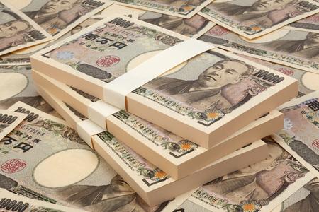 Foto de Japanese currency1 million Japanese yen - Imagen libre de derechos