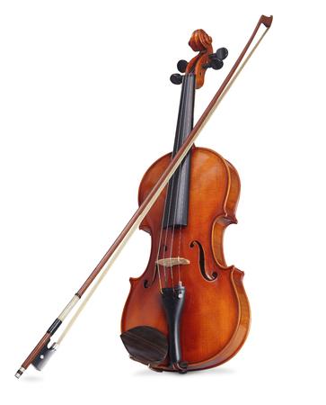 Foto de A violin on a white background with clipping path - Imagen libre de derechos