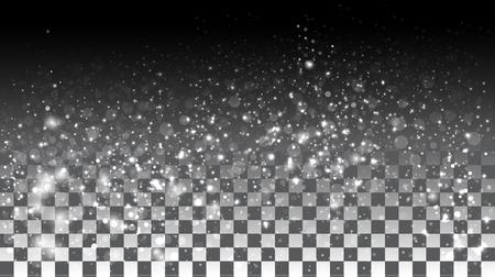 Ilustración de Falling snow on a transparent background. Vector special effects on a transparent background - Imagen libre de derechos