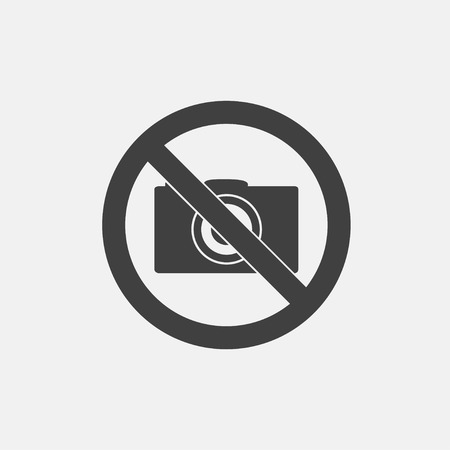 Illustration pour No camera icon vector illustration. no photo icon vector - image libre de droit