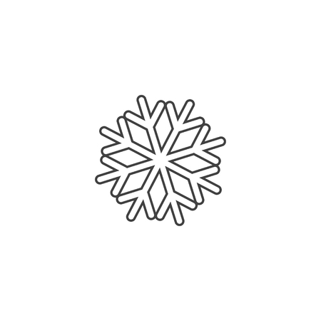 Illustration pour Snowflake icon or logo. Christmas and winter theme symbol. Vector and illustration. xmas icon - image libre de droit