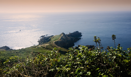 Photo pour Jerbourg Point, or Peninsula, is the southeastern point of the Ballwich of Guernsey in the English Channel. - image libre de droit