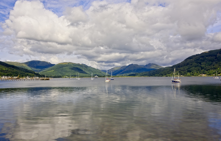 Photo for Sailboats on the River Clyde in Greenock, Scotland - Royalty Free Image