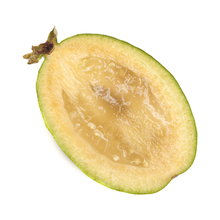 Photo pour feijoa or pineapple guava isolated on white background - image libre de droit
