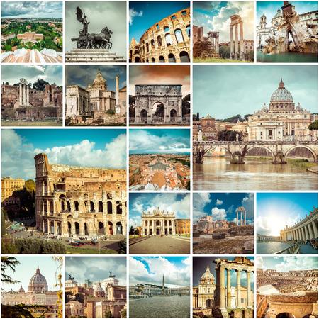 Foto de Collage of photos from Rome. Italy - Imagen libre de derechos