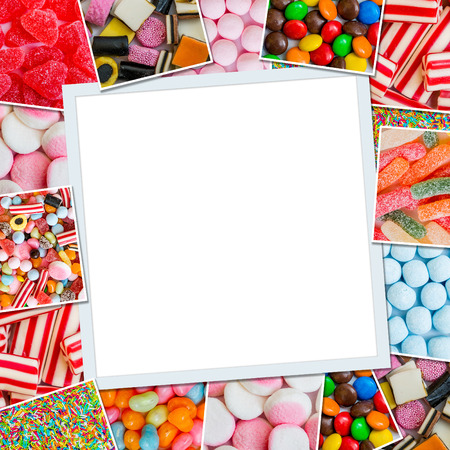 Photo for Frame photos of candies and jellies - Royalty Free Image
