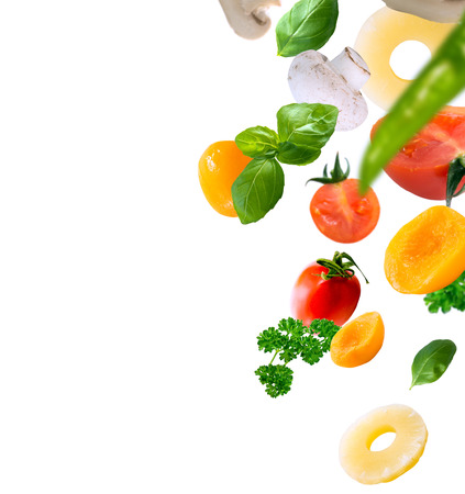 Foto de healthy food ingredients on a white background - Imagen libre de derechos
