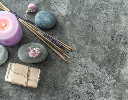 Photo pour Handmade soap and spa spiritual smoking sticks - image libre de droit