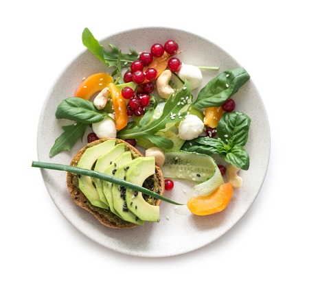 Photo for Vegetarian salad isolated - Royalty Free Image