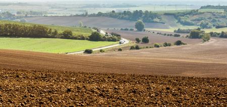 Photo pour Landscape of Moravian fields - image libre de droit