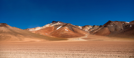 Photo for Panoramic view of wide sunshine mountanious Bolivian desert - Royalty Free Image