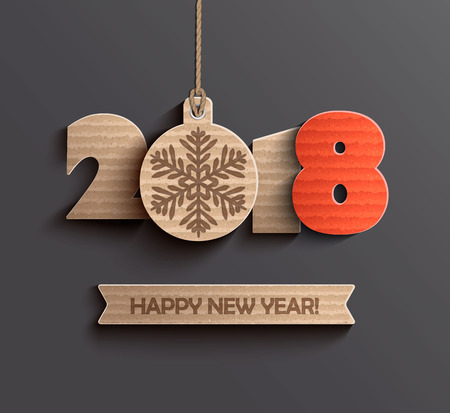 Illustration pour Happy new year 2018 design. - image libre de droit