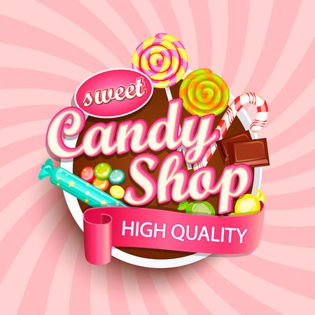 Illustration pour Candy shop signage design. - image libre de droit