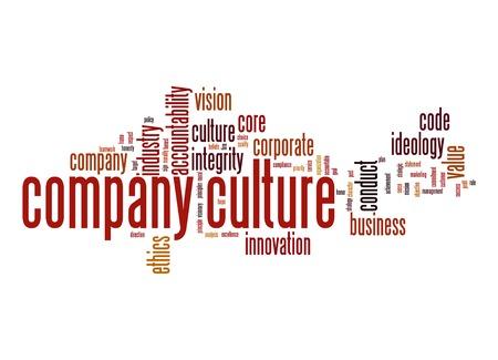 Foto für Company culture word cloud - Lizenzfreies Bild