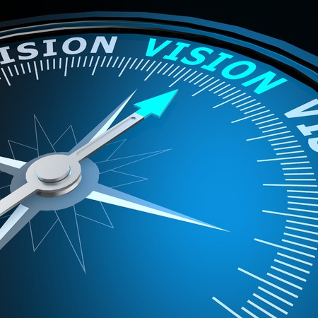 Photo for Vision word on compass - Royalty Free Image