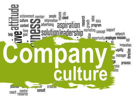 Photo for Company culture word cloud image with hi-res rendered artwork that could be used for any graphic design. - Royalty Free Image
