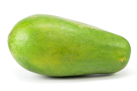Photo for Green papaya isolated on a white background - Royalty Free Image