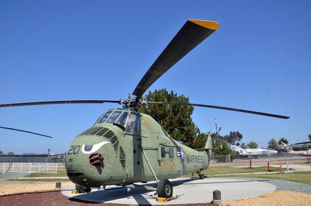 Foto de SAN DIEGO, USA- JULY 1, 2019: HRS-3 (H-19) Chickasaw display inside Flying Leatherneck Aviation Museum in San Diego, California. - Imagen libre de derechos