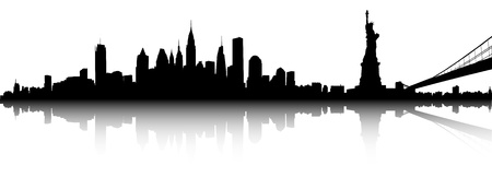 Illustration for Vector part of the New York skyline  - Royalty Free Image