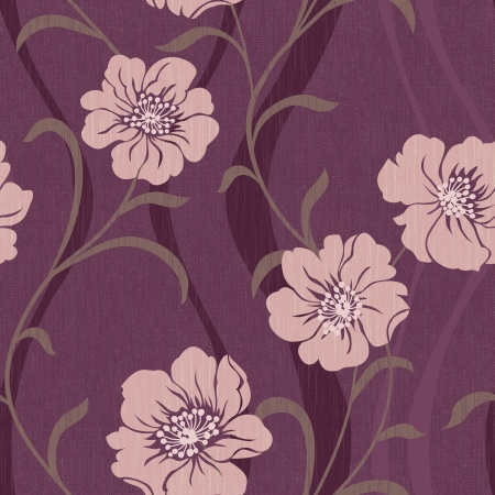 Elegant flowers seamless pattern background - For easy making seamless pattern use it for fi mural