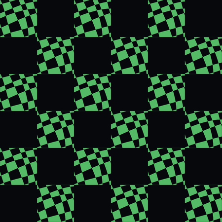 Illustration for Art Deco Pattern Of Geometric Elements. Seamless Pattern. Vector Illustration. Design For Printing, Presentation, Textile Industry. green black color - Royalty Free Image