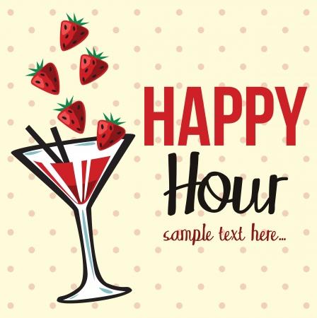 Vintage happy hour Invitation