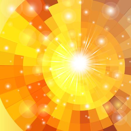 Photo pour Abstract brightly vector sunrise circle technology pattern - image libre de droit