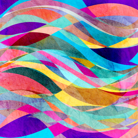 Photo pour Watercolor abstract colorful background with fantastic elements. Background for design template. - image libre de droit