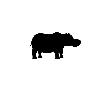 Illustration for Icon bright hippo vector on white background - Royalty Free Image