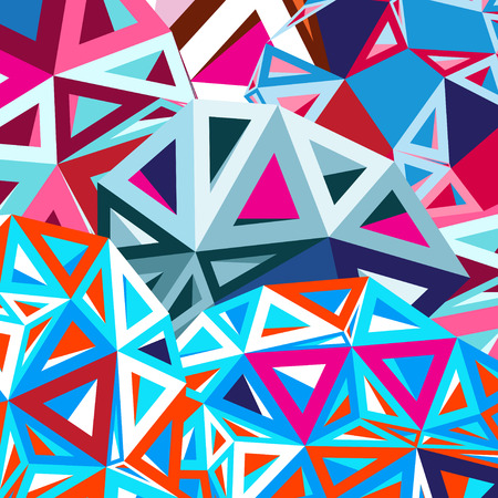 Illustration for Bright colorful geometric abstract background - Royalty Free Image