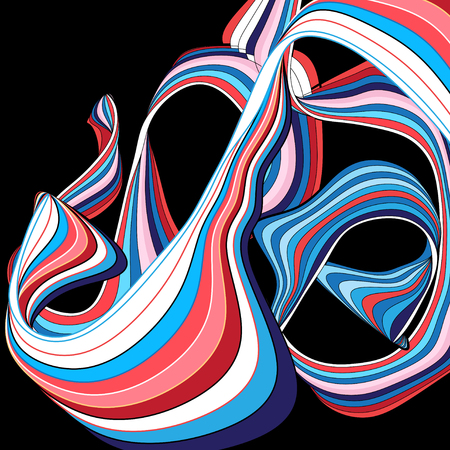 Ilustración de Abstract colored background with wavy elements - Imagen libre de derechos